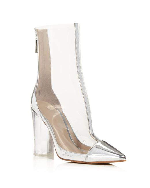 Kendall + Kylie Haven Metallic Leather And Lucite