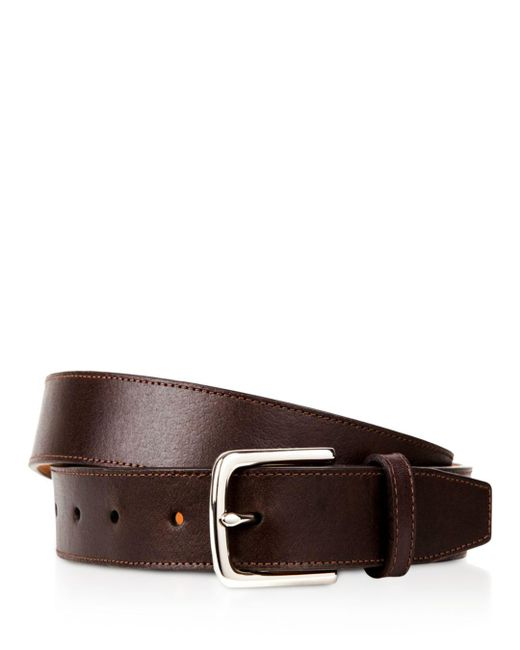 Cole Haan - Brown Buffed Leather Belt for Men - Lyst