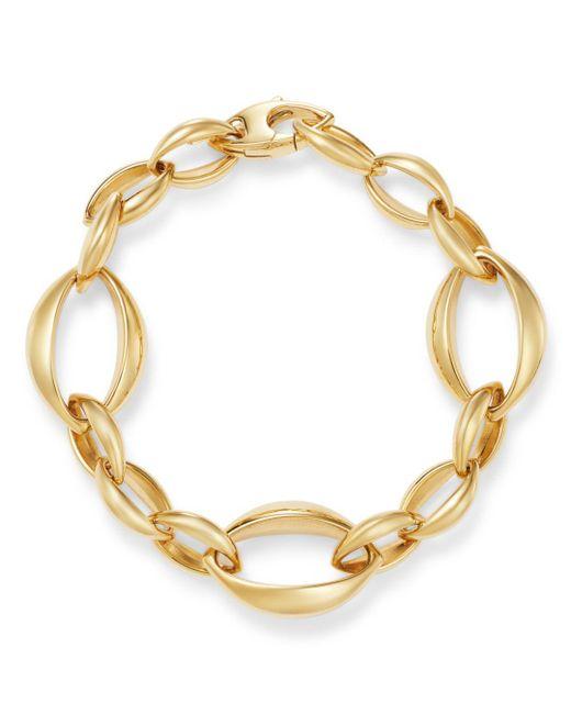 Bloomingdale's - Metallic Slim Oval Interlock Bracelet In 14k Yellow Gold - Lyst