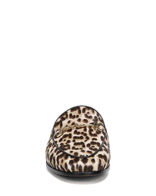 b4e42be7a5f5b8 Lyst - Sam Edelman Women s Linnie Leopard Print Calf Hair Mules in Brown