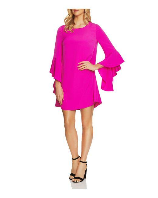 Cece by Cynthia Steffe | Pink Ashley Bell-sleeve Dress | Lyst