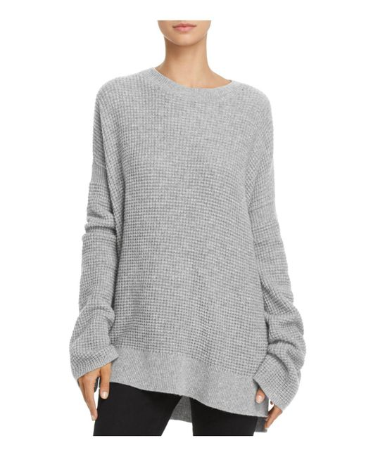 Theory | Gray Bicep Bell-sleeve Thermal Cashmere Sweater | Lyst