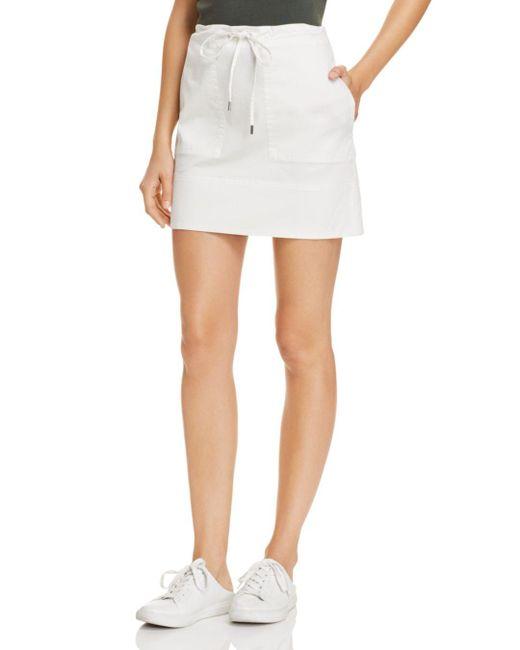 Theory - White Cargo Mini Skirt - Lyst