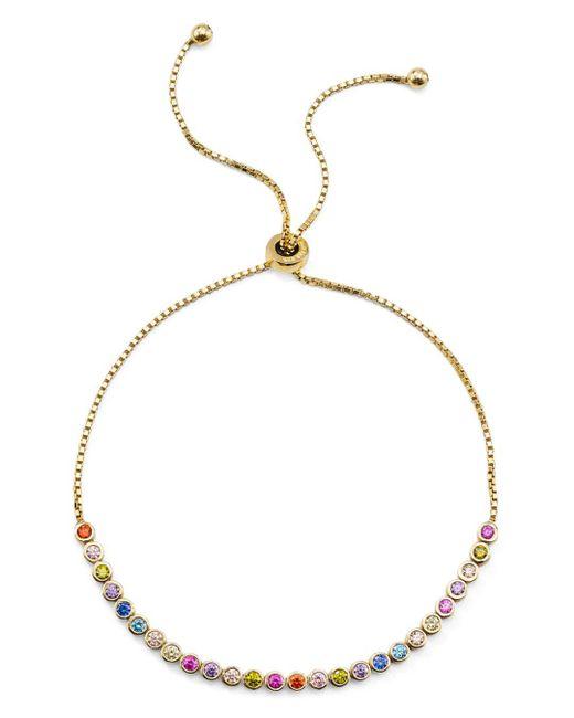 Aqua - Metallic Multicolor Stone Sterling Silver Slider Bracelet - Lyst