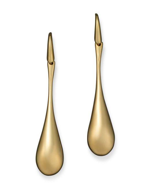 Roberto Coin | 18k Yellow Gold Drop Earrings | Lyst