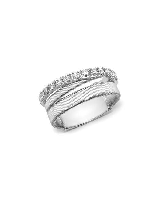 Marco Bicego   Metallic 18k White Gold Masai Triple Row Diamond Ring   Lyst