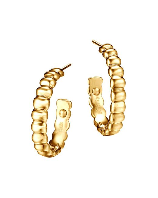 John Hardy | Metallic Bedeg 18k Gold Small Hoop Earrings | Lyst