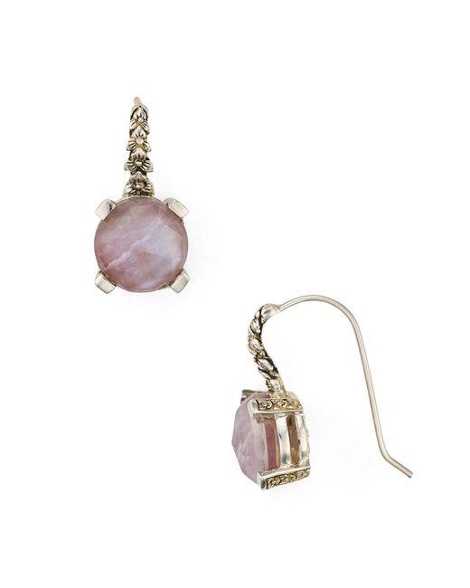 Stephen Dweck | Pink Rose Quartz Drop Earrings | Lyst