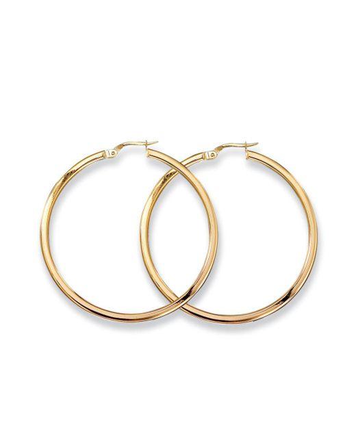 Roberto Coin - Metallic Medium 18k Yellow Gold Hoop Earrings - Lyst