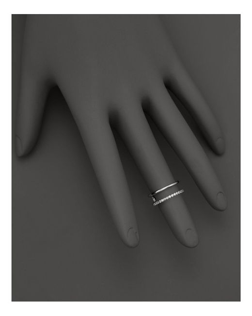 KC Designs - Double Row Midi Ring In 14k White Gold - Lyst