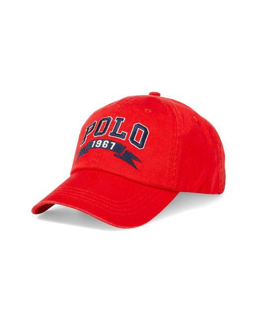 Polo Ralph Lauren | Red Signature Baseball Cap for Men | Lyst