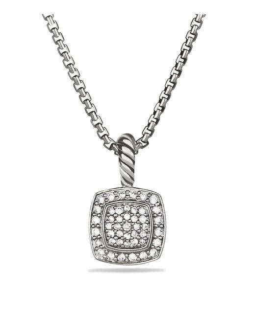 David Yurman | Metallic Petite Albion Pendant With Diamonds On Chain | Lyst