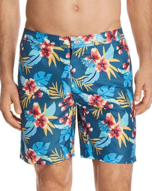 Onia - Blue Calder Fiji Floral Swim Trunks for Men - Lyst