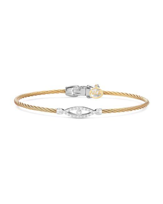 Alor | Metallic Diamond Bangle | Lyst