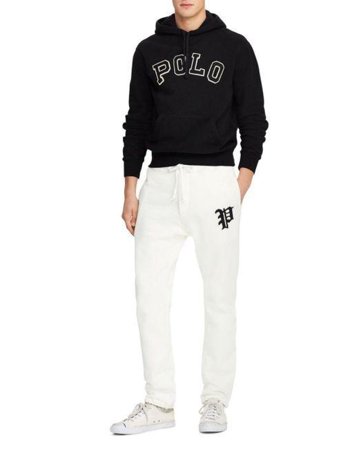 7468473d6b47 ... Polo Ralph Lauren - White Yale Patch-accented Fleece Jogger Pants for  Men - Lyst