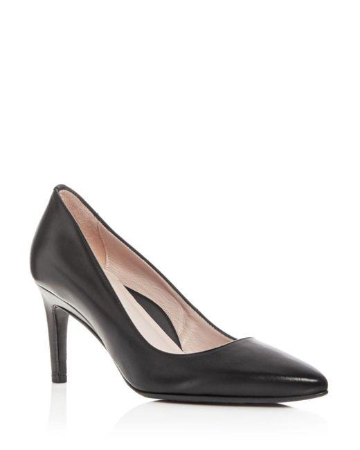 Taryn Rose - Black Women's Gabriela Leather Pointed Toe Pumps - Lyst