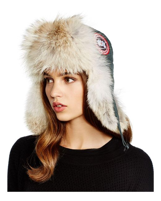 Canada Goose - Gray Coyote Fur Aviator Hat - Lyst