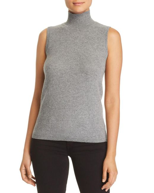 C By Bloomingdale's - Gray Sleeveless Cashmere Sweater - Lyst