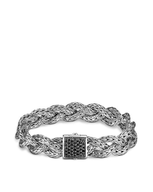 John Hardy - Metallic Classic Chain Silver Small Braided Bracelet With Black Sapphire - Lyst