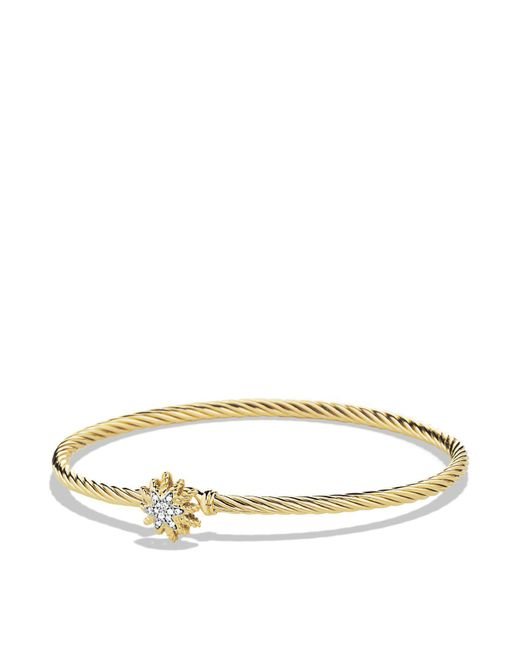 David Yurman | Metallic Starburst Single-station Cable Bracelet With Diamonds In Gold | Lyst