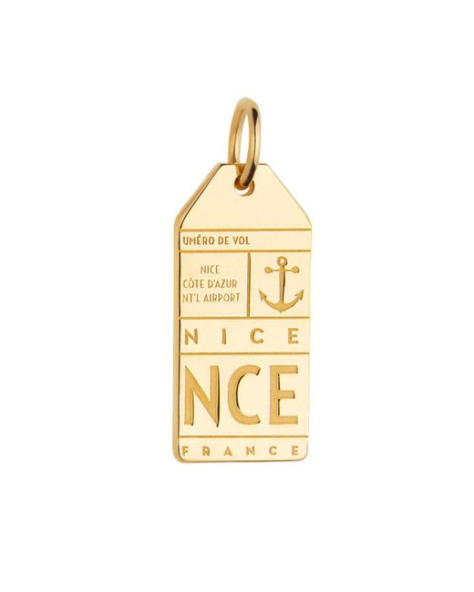 Jet Set Candy | Metallic France Nce Luggage Tag Charm | Lyst