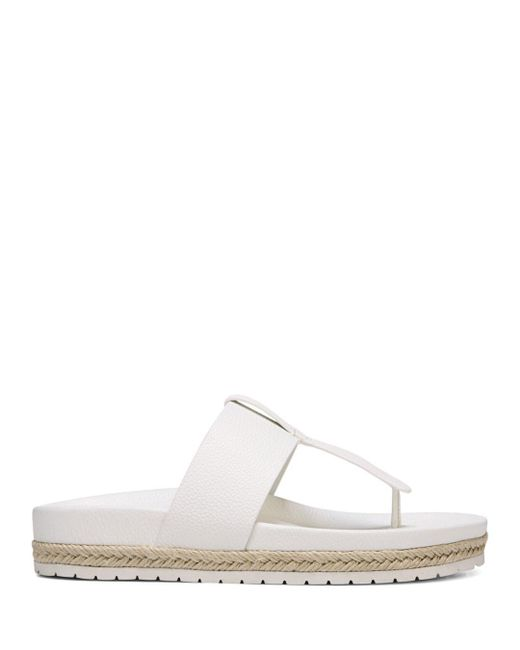 0bd28b367c4 Lyst - Vince Avani Sandal Panna Cotta Leather in White - Save 65%