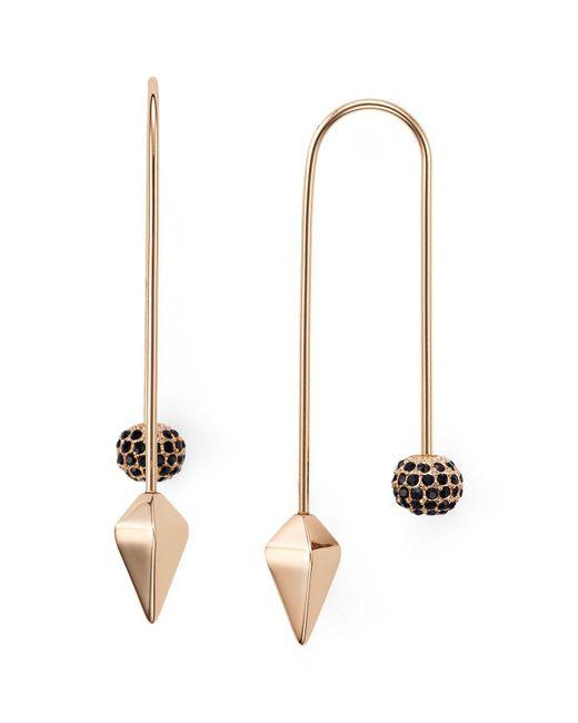Rebecca Minkoff | Multicolor Pavé Ball Threader Earrings | Lyst