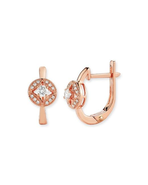 Bloomingdale's - Pink Diamond Earrings In 14k Rose Gold, .20 Ct. T.w. - Lyst