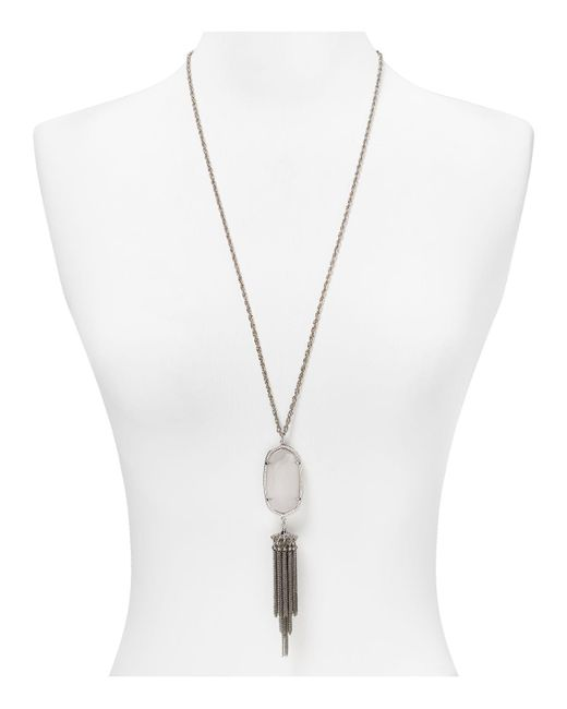Kendra Scott | Metallic Rayne Pendant Tassel Necklace, 38"