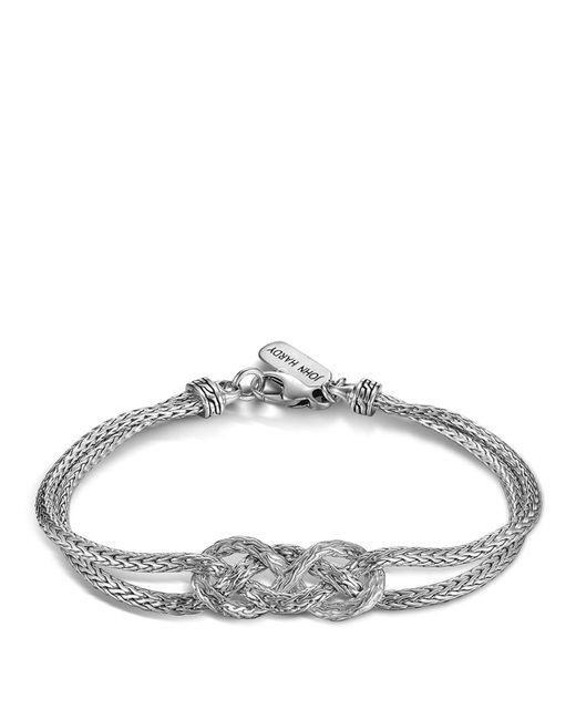 John Hardy | Metallic Classic Chain Silver Knot Station Bracelet | Lyst