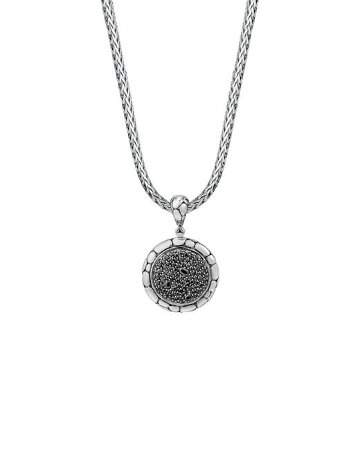 John Hardy - Sterling Silver Kali Lavafire Medium Round Enhancer With Black Sapphires - Lyst