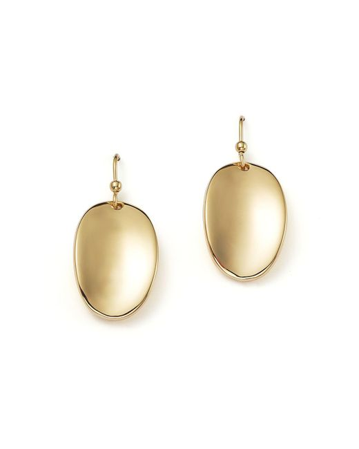 Roberto Coin | 18k Yellow Gold Oval Drop Earrings | Lyst