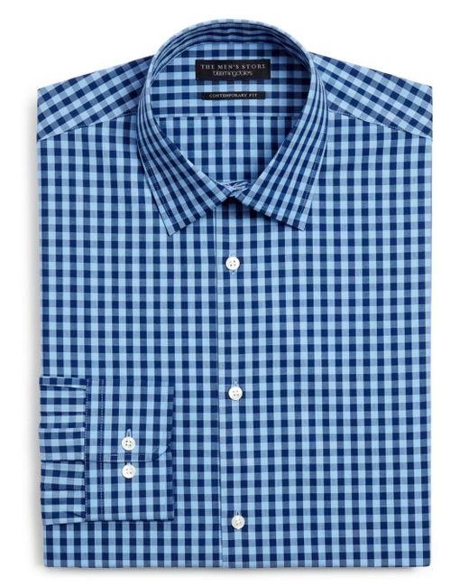 Bloomingdale's - Blue Gingham Dress Shirt - Slim Fit for Men - Lyst