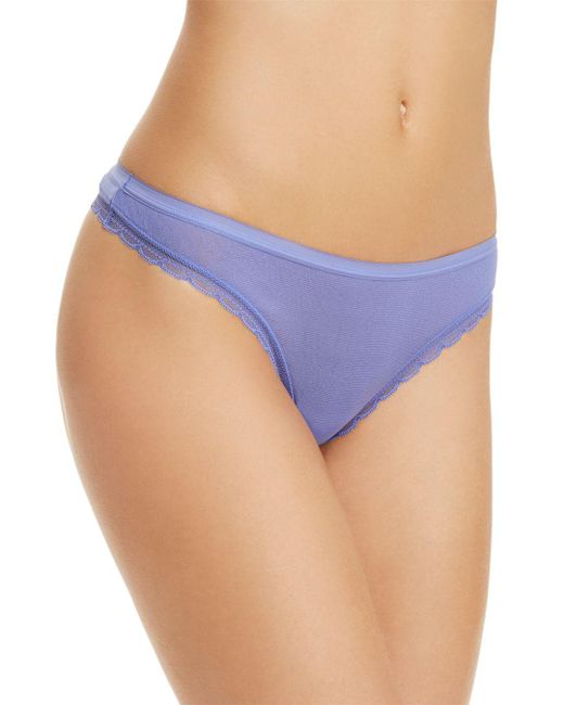 On Gossamer - Blue Next To Nothing Hip G Thong - Lyst