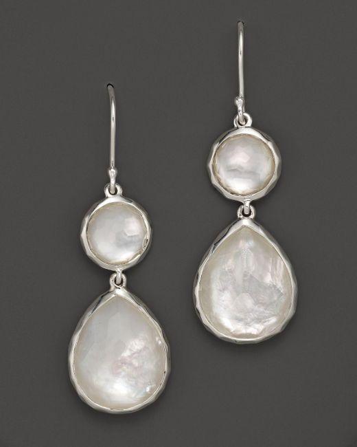 Ippolita   Multicolor Sterling Silver Wonderland Teardrop Snowman Doublet Earrings In Mother-of-pearl   Lyst