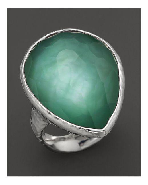 Ippolita | Green Sterling Silver Large Teardrop Ring In Mint | Lyst