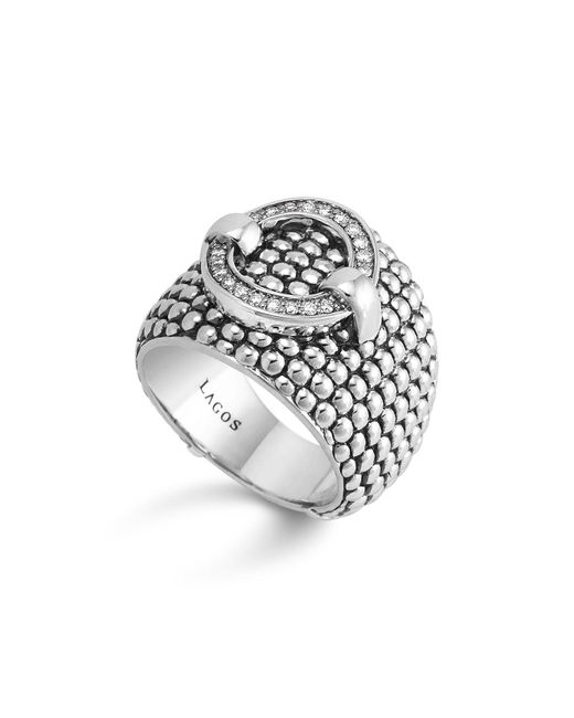 Lagos | Metallic Enso Diamond Ring In Sterling Silver | Lyst