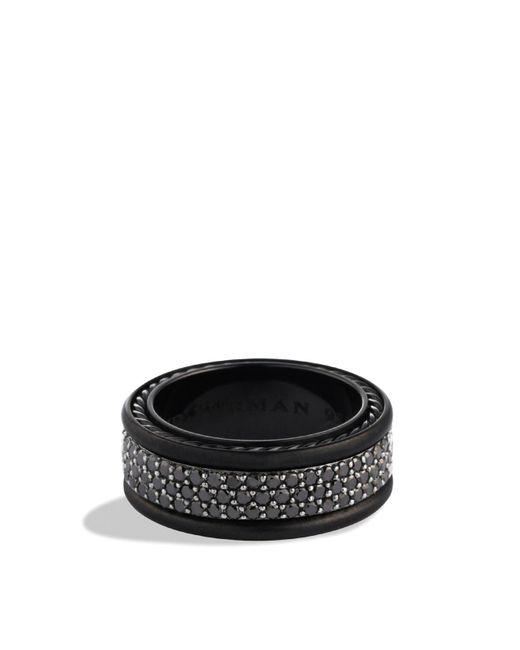 David Yurman | Streamline Three-row Band Ring With Black Diamonds for Men | Lyst