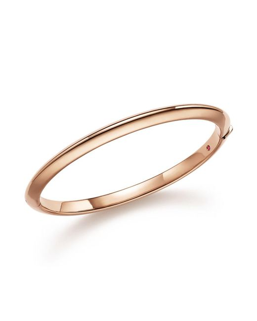 Roberto Coin - Pink 18k Rose Gold Bangle - Lyst