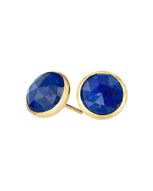 Marco Bicego - Blue 18k Yellow Gold Lapis Stud Earrings - Lyst