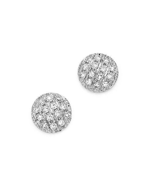 Dana Rebecca | Diamond Lauren Joy Mini Earrings In 14k White Gold | Lyst