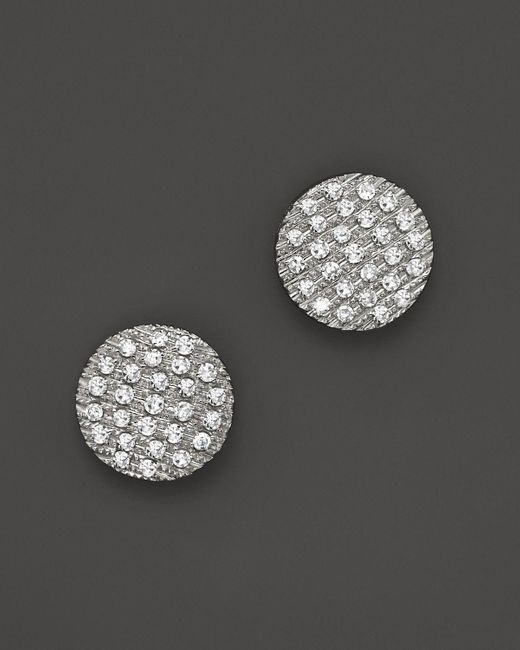 Dana Rebecca   Diamond Lauren Joy Medium Earrings In 14k White Gold   Lyst