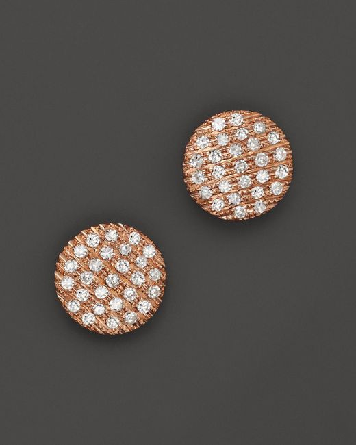 Dana Rebecca | Pink Diamond Lauren Joy Medium Earrings In 14k Rose Gold | Lyst