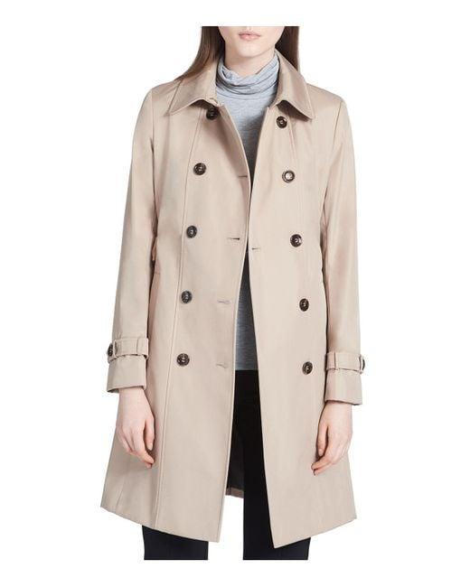 Calvin Klein | Natural Tie-waist Trench Coat | Lyst