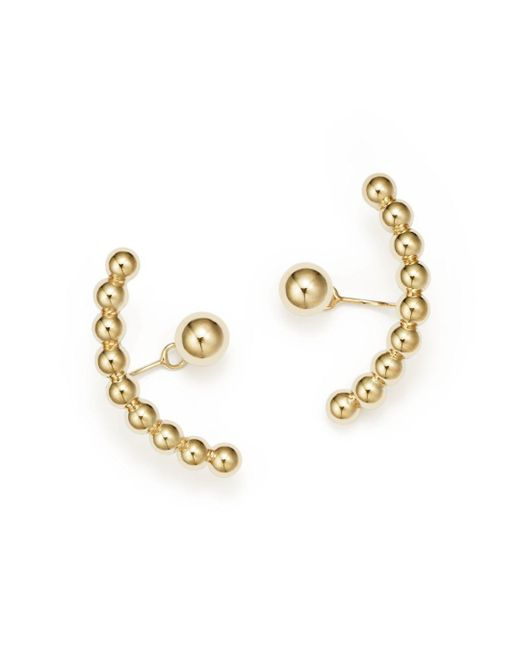 Bloomingdale's - Metallic Ball Stud Ear Jackets In 14k Yellow Gold - Lyst