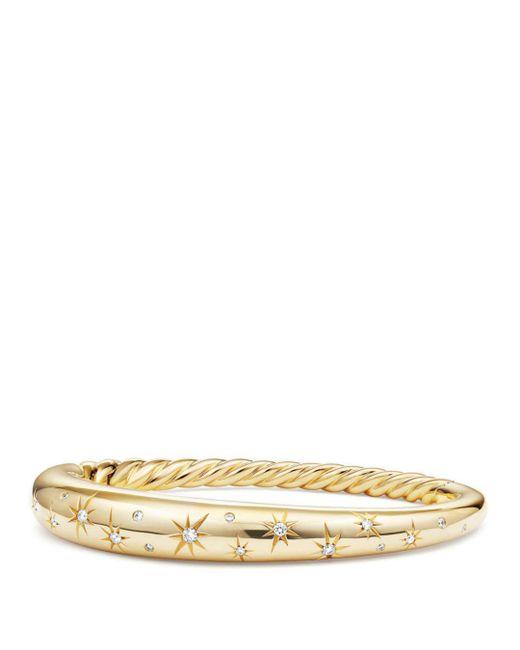 David Yurman - Metallic Pure Form Smooth Bracelet With Diamonds In 18k Gold - Lyst