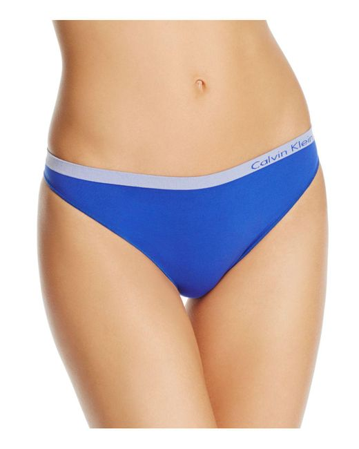 CALVIN KLEIN 205W39NYC - Blue Pure Seamless Thong - Lyst