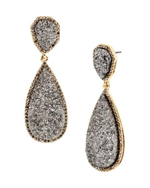 BaubleBar - Gray Moonlight Druzy Earrings - Lyst