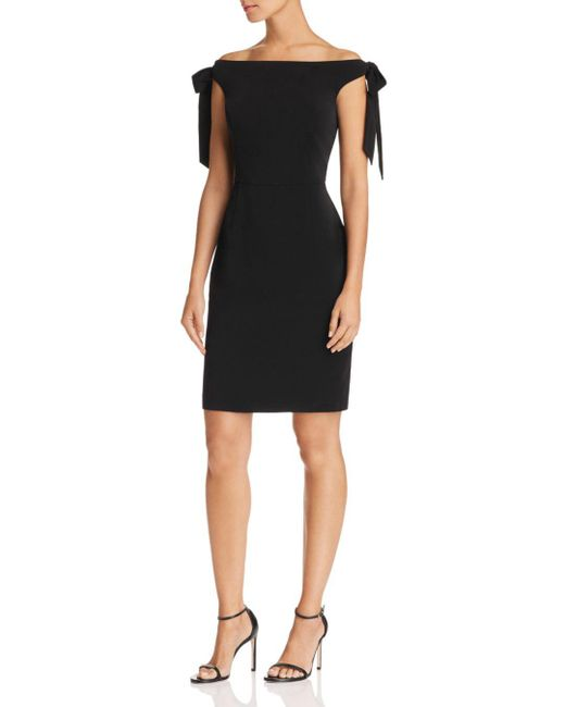 Adelyn Rae - Black Yuki Off-the-shoulder Sheath Dress - Lyst