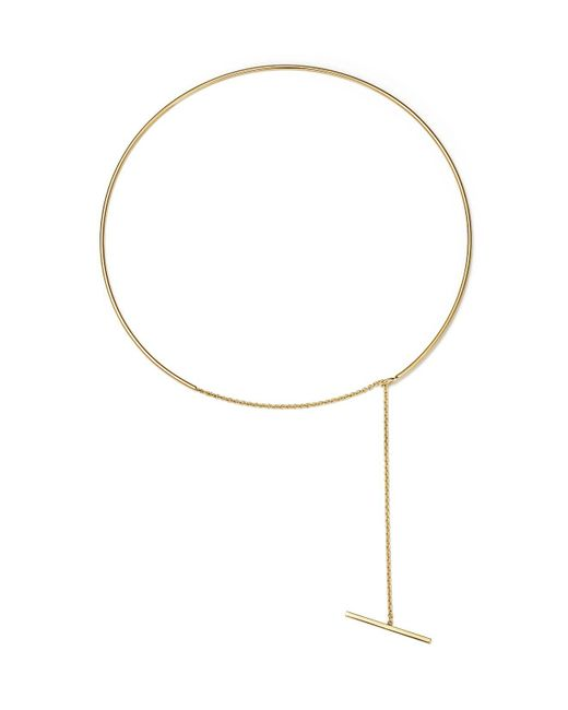 Zoe Chicco   Metallic 14k Yellow Gold Wire And Toggle Chain Choker Necklace   Lyst